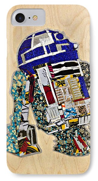 IPhone Case featuring the tapestry - textile R2-d2 Star Wars Afrofuturist Collection by Apanaki Temitayo M