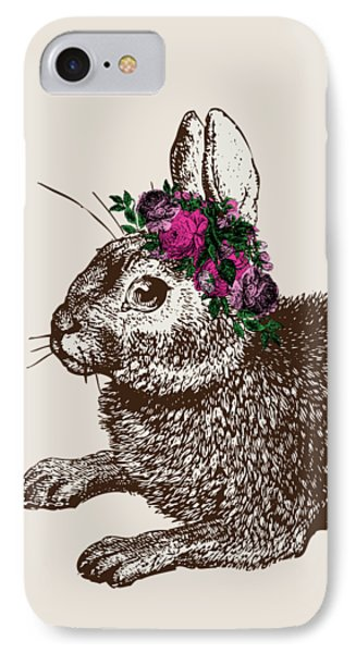 Rabbit And Roses IPhone Case by Eclectic at HeART