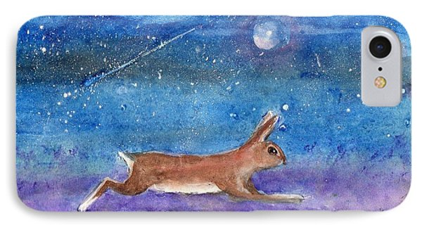 Rabbit Crossing The Galaxy IPhone Case