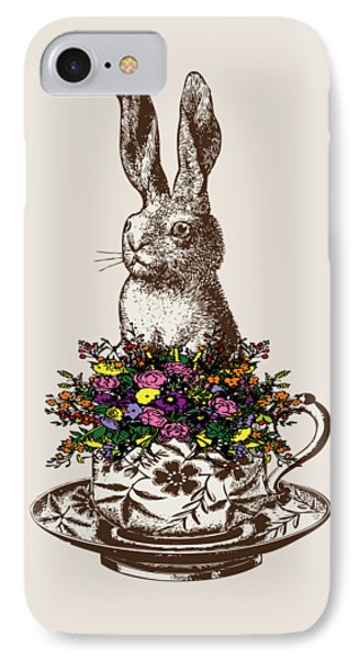 Rabbit In A Teacup IPhone 7 Case by Eclectic at HeART