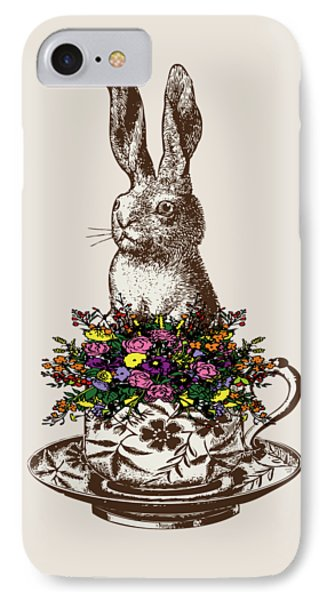Rabbit In A Teacup IPhone Case by Eclectic at HeART