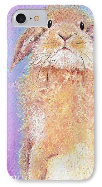 Rabbit Painting - Babu IPhone Case by Jan Matson