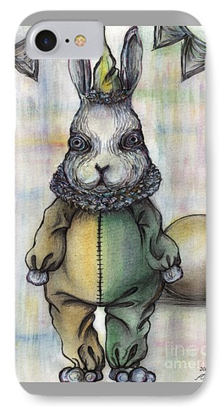 Rabbit Pierrot IPhone Case by Akiko Okabe
