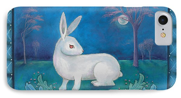 IPhone Case featuring the painting Rabbit Secrets by Terry Webb Harshman