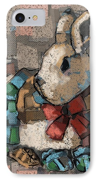 IPhone Case featuring the painting Rabbit Socks by Carrie Joy Byrnes