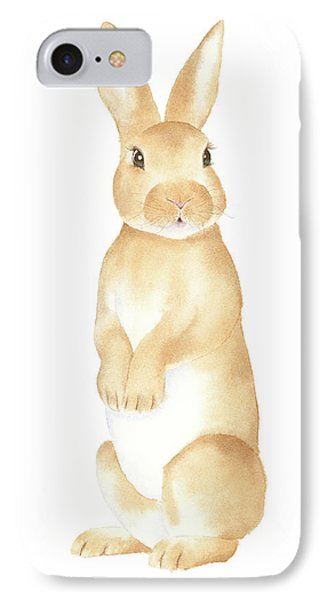 IPhone Case featuring the painting Rabbit Watercolor by Taylan Apukovska