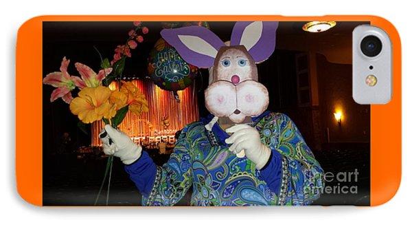 Rabbit With Bouquet IPhone Case by GJ Glorijean