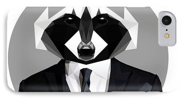 Raccoon IPhone Case by Gallini Design
