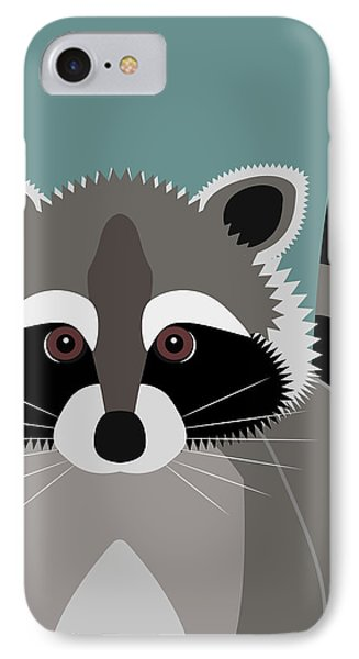 Raccoon Forest Bandit IPhone Case by Antique Images