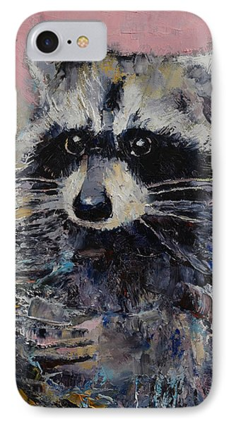 Raccoon IPhone 7 Case by Michael Creese