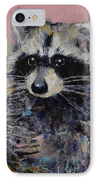 Raccoon IPhone Case by Michael Creese