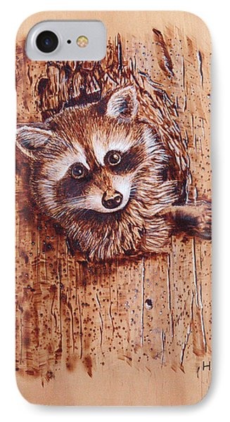 Raccoon IPhone Case by Ron Haist