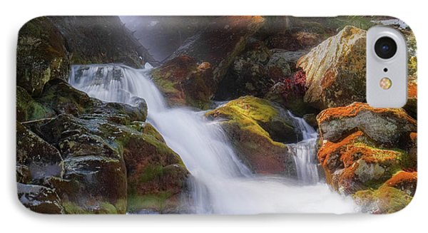 IPhone 7 Case featuring the photograph Race Brook Falls 2017 Square by Bill Wakeley