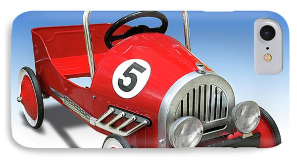 IPhone Case featuring the photograph Race Car Peddle Car by Mike McGlothlen
