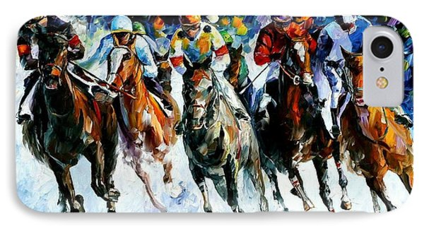 Race On The Snow Phone Case by Leonid Afremov