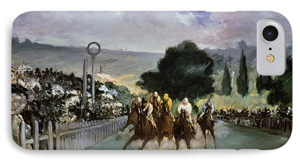 Races At Longchamp IPhone Case by Edouard Manet