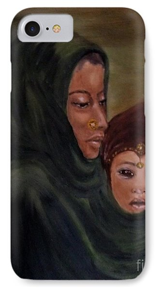 IPhone Case featuring the painting Rachel And Joseph by Annemeet Hasidi- van der Leij