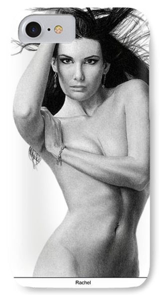 IPhone Case featuring the drawing Rachel by Joseph Ogle