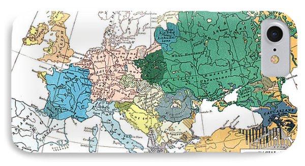 Racial Map Of Europe Circa 1923 IPhone Case by European School