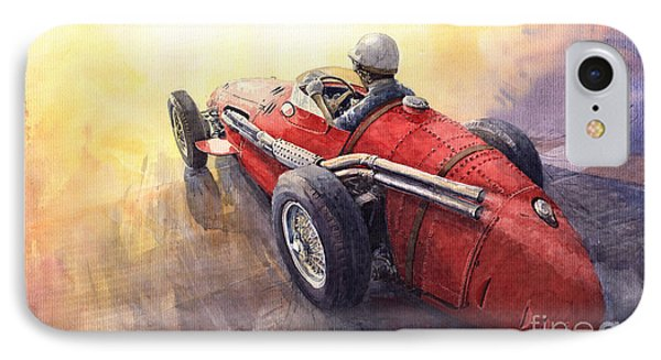 Racing Light Maserati 250 F Phone Case by Yuriy  Shevchuk