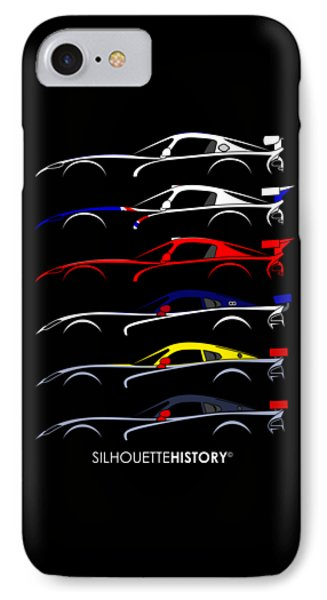 Racing Snake Silhouettehistory IPhone 7 Case by Gabor Vida