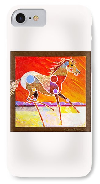 IPhone Case featuring the painting Racing The Desert by Bob Coonts