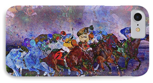 Racing With Ghosts IPhone Case by Betsy Knapp