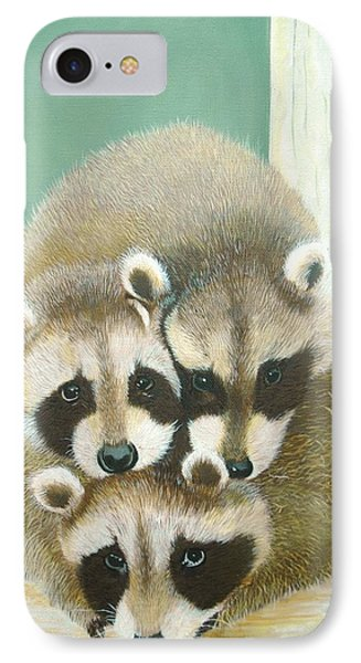 Racoons IPhone Case by Jean Yves Crispo