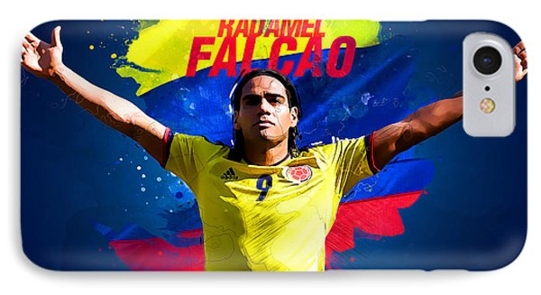 Radamel Falcao IPhone Case by Semih Yurdabak