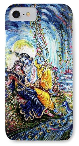Radha Krishna Jhoola Leela IPhone Case