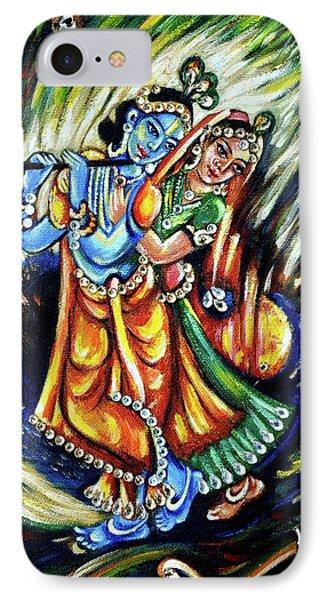 IPhone Case featuring the painting Radhe Krishna by Harsh Malik