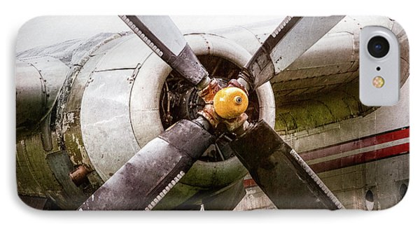 IPhone Case featuring the photograph Radial Engine And Prop - Fairchild C-119 Flying Boxcar by Gary Heller