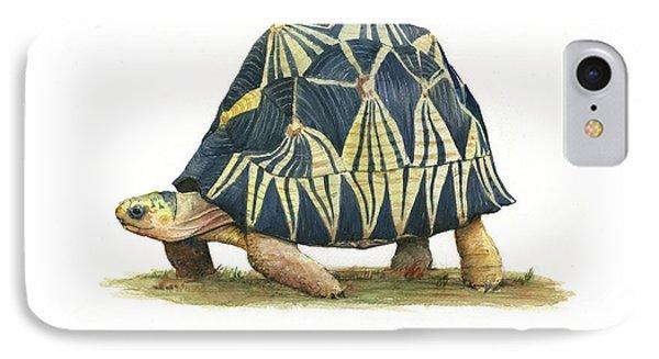 Turtle iPhone 7 Case - Radiated Tortoise  by Juan Bosco