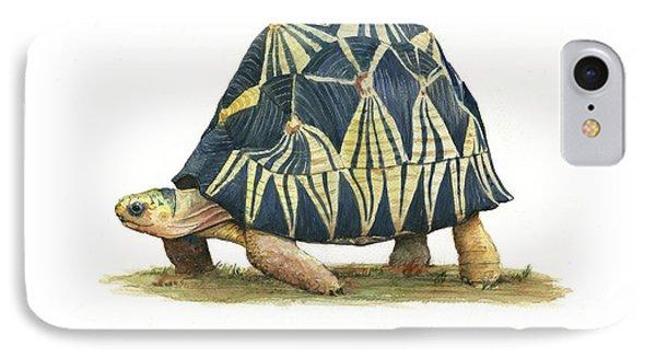 Radiated Tortoise  IPhone 7 Case by Juan Bosco