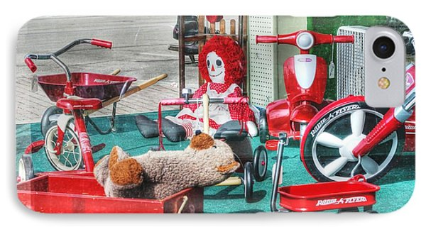 Radio Flyer Phone Case by David Bearden