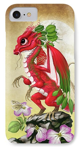 IPhone Case featuring the digital art Radish Dragon by Stanley Morrison