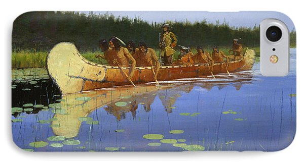 Radisson And Groseilliers IPhone Case by Frederic Remington
