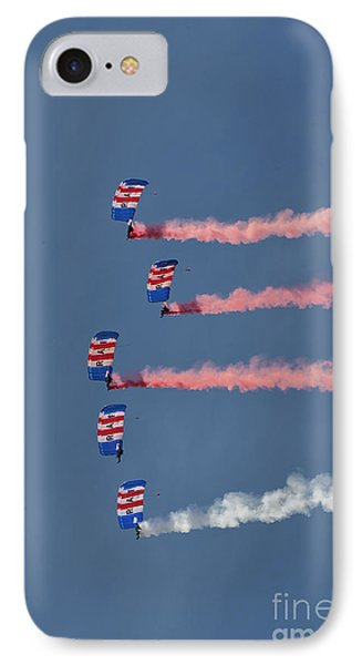 Raf Parachute Display Team IPhone Case by Nichola Denny