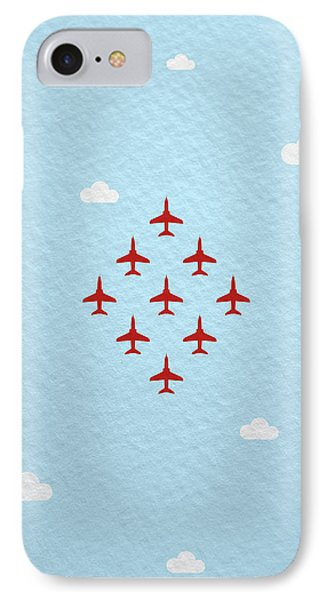 Jet iPhone 7 Case - Raf Red Arrows In Formation by Samuel Whitton