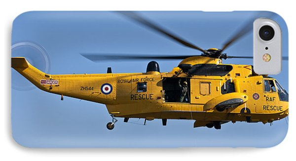 Raf Sea King Search And Rescue Helicopter 2 IPhone Case by Steve Purnell