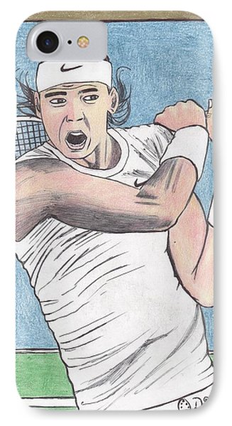 Rafael Nadal IPhone Case by Odinel Pierre    junior