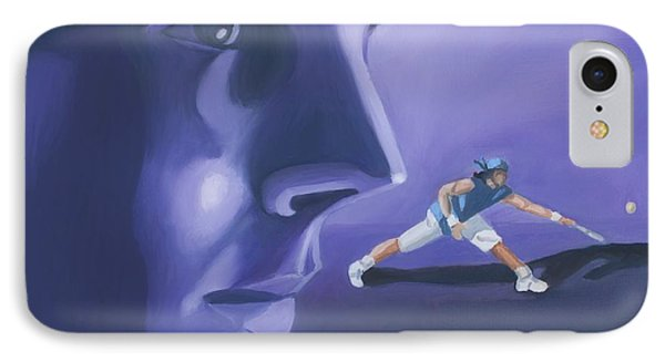 IPhone Case featuring the painting Rafael Nadal by Quwatha Valentine