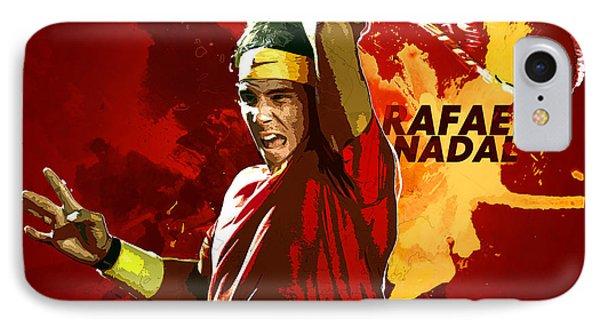 Rafael Nadal IPhone 7 Case by Semih Yurdabak