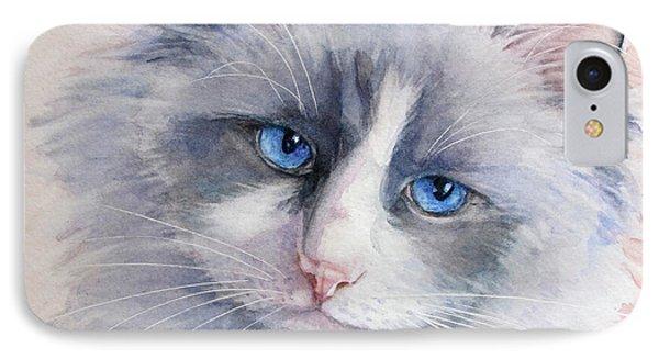 Ragdoll Cat IPhone Case by Bonnie Rinier
