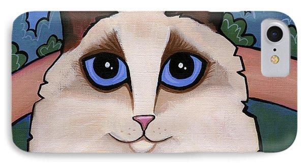 Ragdoll Cat IPhone Case by Leanne Wilkes