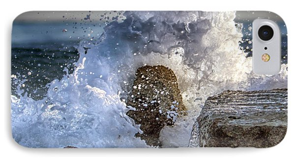 Rage Of The Sea IPhone Case by Stelios Kleanthous