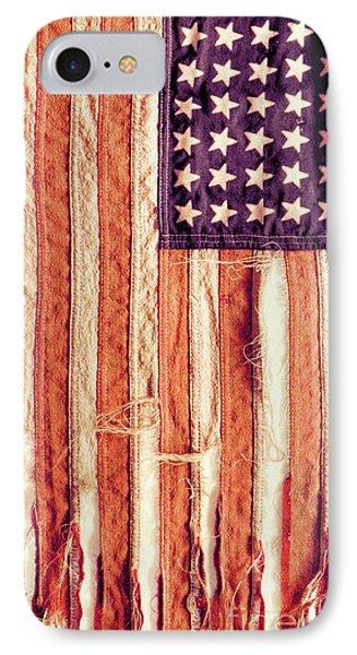 IPhone Case featuring the photograph Ragged American Flag by Jill Battaglia
