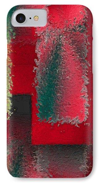 Raggedy Red Phone Case by John Krakora