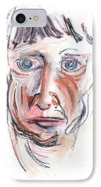IPhone Case featuring the drawing Raggedy Selfie by Carolyn Weltman