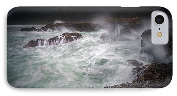 IPhone Case featuring the photograph Raging Waves On The Oregon Coast by William Lee